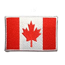 CANADA FLAG Patch ''7.4 x 4.9 cm'' - Embroidered Iron On Patches Sew On Patches Embroidery Applikations Applique Catch The Patch