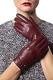 Gallery Seven Women's Winter Gloves Warm Touchscreen Driving Texting Ladies Gloves - Burgundy - Button Design - X Large