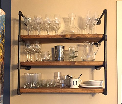 Industrial Kitchen Shelving: Industrial Retro Wall Mount Iron Pipe Shelf,DIY Open
