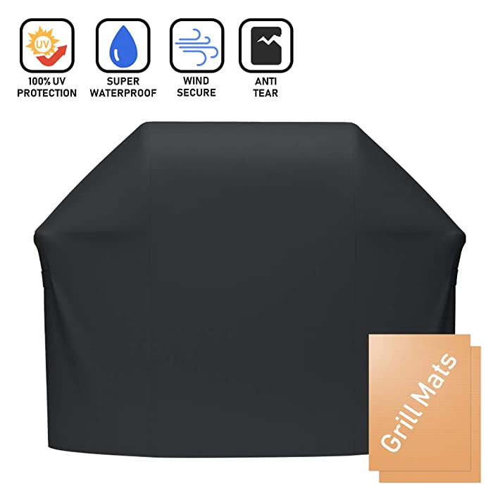 X Home 60 inch 7107 Grill Cover for Weber Genesis 300 Series E/S-310 E/S-320 E/S-330, Genesis II E-310/S-310/E-330/E-315/E-335/S-335, Genesis II LX 310 Series, UV & Fade Resistant BBQ Cover 44x60in