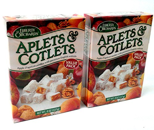 Liberty Orchards Aplets & Cotlets, 8 oz Boxes in a BlackTie Box (Pack of 2) by Black Tie Mercantile (Image #1)