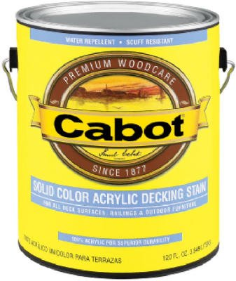 - Cabot Solid Color Acrylic Decking Stain Acrylic Exterior Neutral Base Opaque 1 Qt