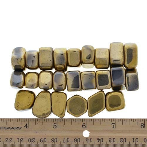 Digging Dolls: 3 lbs Small Golden Magnetic Hematite Sticky Stones - Great for Arts, Crafts, Party Favors, Party Gifts, Refrigerator Magnets and More! by Digging Dolls (Image #1)