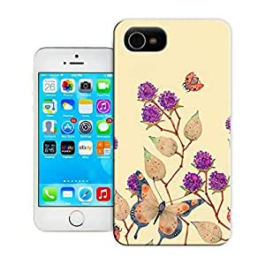 THYde Unique Phone Case Flowers and birds Flowers, butterflies swirling Hard Cover for iPhone 5/5s cases-buythecase ending