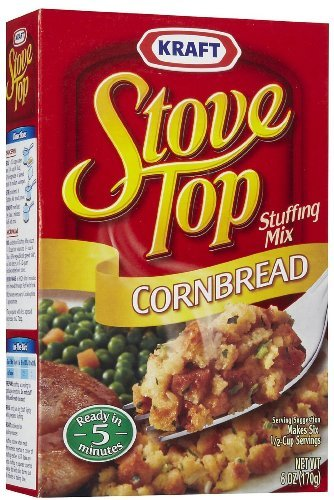 Stove Top Stuffing Mix Cornbread 6 Oz (Pack of 4) (Stove Top Stuffing Mix)