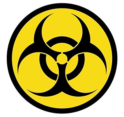 1-Pcs Terrific Popular Biohazard Symbol Car Stickers Emblem Decals Hard Hat Decor Weatherproof Size 2