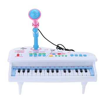 31 Teclas Multifuncionales Simulación Mini Juguete Piano con Micrófono Desmontable Teclado Eléctrico Electone Regalo para Bebés