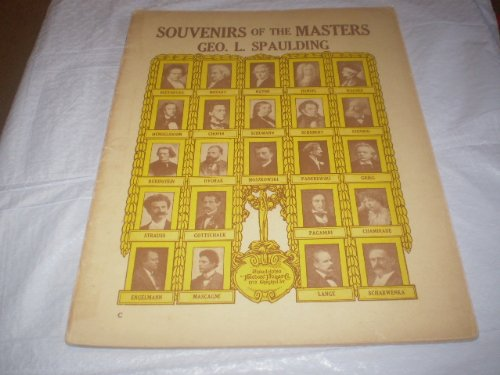 SOUVENIERS OF THE MASTERS GEO. L SPAULDING 1914 SONGBOOK E14