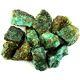"Crystal Allies Materials: 1lb Bulk Rough Chrysocolla Stones from Madagascar - Large 1""+ Raw Natural Crystals for Cabbing, Cutting, Lapidary, Tumbling, and Polishing & Reiki Crystal Healing"