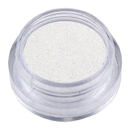 NB24 Nailart Glitzerpuder - Weiß Irisierend - Glitterstaub - Glitter Flitter Glimmer für Nail Art und Schmucknägel im Bereich künstliche Fingernägel Naturnagelverstärkung