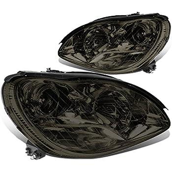 For Mercedes-Benz S-Class W220 Smoke Lens Angel Eyes Projector Headlight