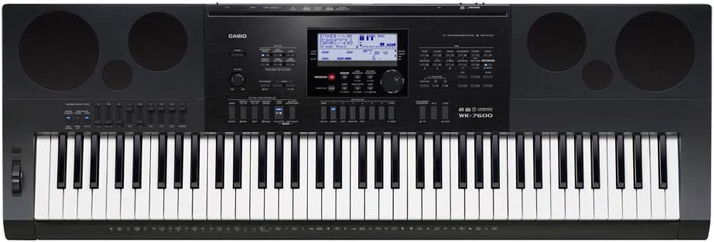 Casio WK-7600 76-Key Workstation Keyboard with Power Supply