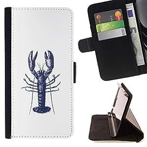 Momo Phone Case / Flip Funda de Cuero Case Cover - Tatuaje de tinta blanca azul del arte - Sony Xperia M4 Aqua