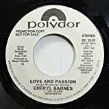 Cheryl Barnes 45 RPM Love And Passion / Love And Passion