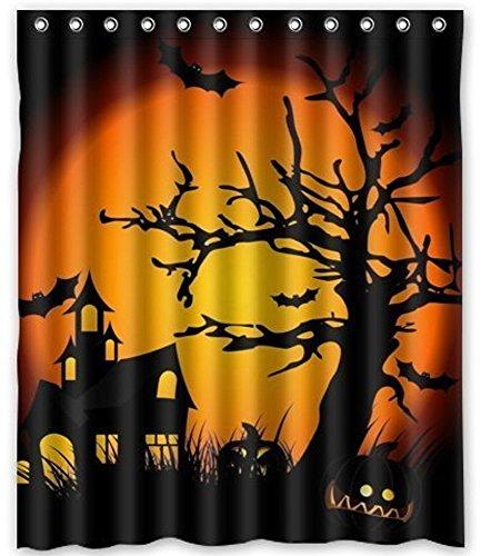Customs Funny Halloween (Fashion Custom Happy Halloween Waterproof Polyester Fabric Shower Curtain 60