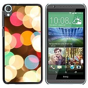 For HTC Desire 820 Case , Evening Night City Christmas Bright - Diseño Patrón Teléfono Caso Cubierta Case Bumper Duro Protección Case Cover Funda