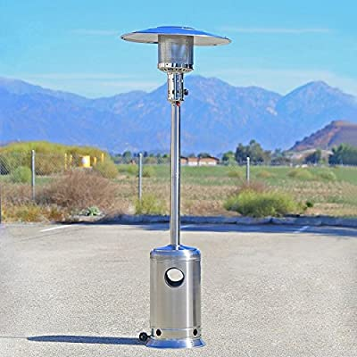Garden Outdoor Patio Heater Propane Standing Stainless Steel w/ lpg reguator new