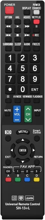 Control Remoto para Sharp AQUOS Smart TV/HDTV/3D/LCD/LED