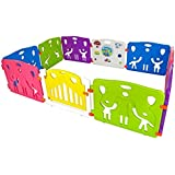 Cannons Plastic Baby Den Playpen with Games Station (Large Panels, 240 x 160 cm)