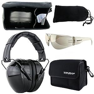 B4 Earmuff/Glasses Combo Kit (G8 Light Mirror Smoke Tint - Full Shield Sports)