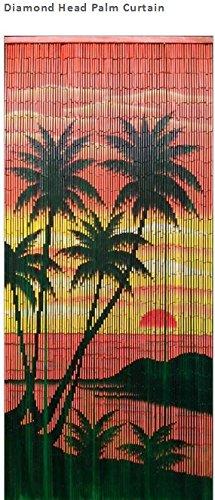 Diamond Head Palm Bamboo Bead Curtain - Palm Tree Bamboo Curtain