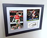 Signed Black Soccer Alexis Sanchez Arsenal Autographed Photo Photographed Picture Frame A4 12x8 Football Gift