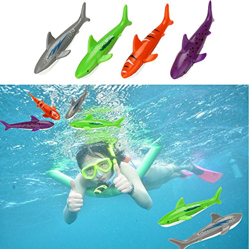 OVERMAL Toy Diving Toy Underwater Swimming Pool Gliding Shark Throwing Torpedo Summer ()