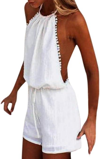 Chándal para mujer sin mangas, espalda descubierta, yogogo ...