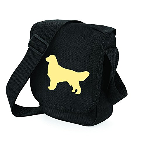 Silhouette Gift Light Bag Golden Golden of Golden Bag Retriever Retriever Retriever Shoulder Bag on Black Colours Reporter Choice Golden 8gqAZwP