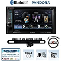 Kenwood DDX372BT 6.2 DVD Receiver with Built in Bluetooth, License Plate Rear Backup Camera and a FREE SOTS Air Freshener