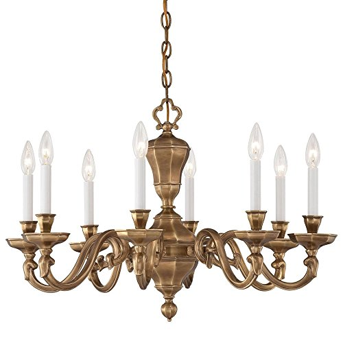 Metropolitan N1115-046 Casoria Chandelier, 8-Light 480 Total Watts, Vintage English Patina