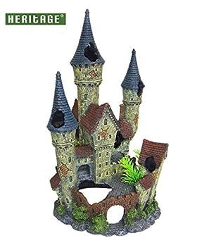 Heritage rp052l peces de acuario tanque Adorno Disney tipo castillo de hadas Ruinas pintada a mano decoración Ocultar: Amazon.es: Productos para mascotas
