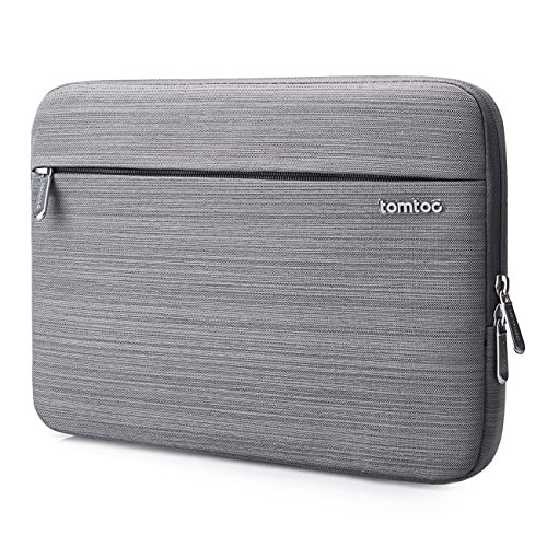 Tomtoc 360° Protective Sleeve Case Bag for 13 Inch Surface Laptop 2017 | MacBook Pro Retina Late 2012 – Early 2016 | 12.9 Inch iPad Pro 2017, Shockproof, Spill-Resistant, Gray