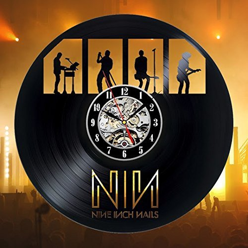 Nine Inch Nails Art Vinyl Wall Clock Gift Room Modern Home Record Vintage Decoration For Sale