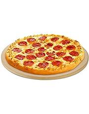 Unicook - Piedra Redonda para Pizza (10 Pulgadas, 12 Pulgadas, 15 Pulgadas), Piedra para Hornear Pizza para Horno y Parrilla