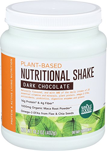 Whole Foods Soy Protein Powder - Whole Foods Market, Plant-Based Nutritional Shake - Dark Chocolate, 14.2 oz