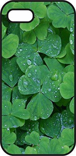 iphone 5S Case - St Patrick's Day celebration - Shamrock 2 - Black Plastic Case for Your iphone - Irish Holiday, inspiration and motivation