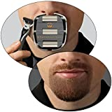 GoateeSaver :The #1 Original Goatee Shaving Template for Men – Fast, Easy & Flawless Goatee Shaving Result – Adjustable Guide to Fit for All Your Needs – Get a Symmetrical, Balanced Goatee Beard with Ease Note: Razor or Trimmer not included