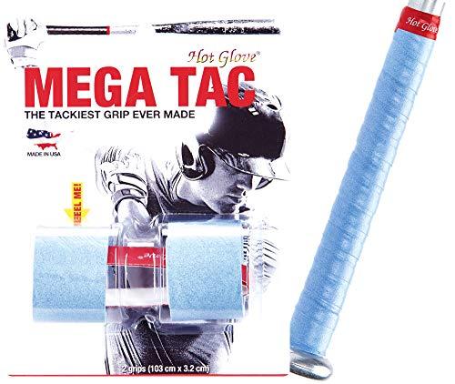 Hot Glove Mega Tac Bat Grip Extra Tacky .44mm Thin Wrap - 2 Grips