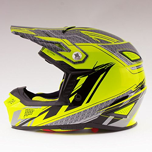 Price comparison product image Zox Z-MX10 Concept Helmet Hi-Viz Yellow (Yellow,  Large)