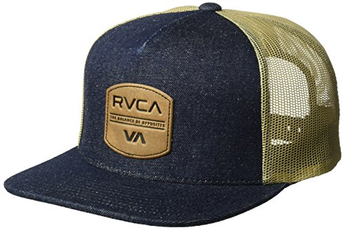 (RVCA Men's Denim Trucker HAT, Indigo, ONE Size)