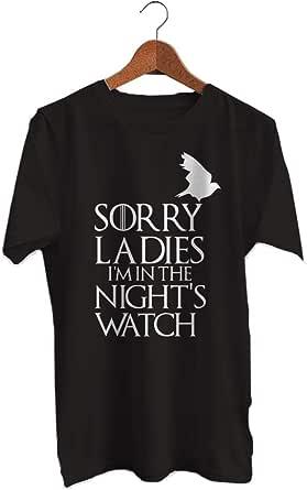 تي شيرت G.O.T تصميم ساعة الليل - رجال