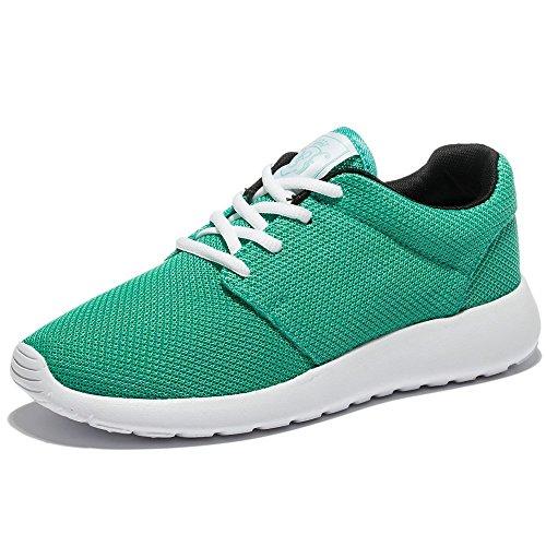 Wotte Chaussures De Course Respirant Maille Sport Chaussures De Sport Léger Casual Chaussures De Marche Vert