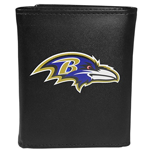 - Siskiyou Sports NFL Baltimore Ravens Tri-fold Wallet Large Logo, Black