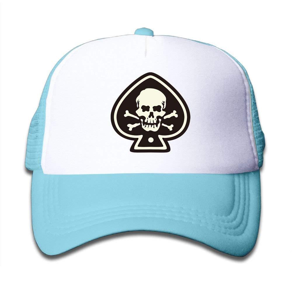 Reeher SDRG5 Spades Skull Child Baby Kid Mesh Caps Adjustable Trucker Hats Summer Baseball Caps