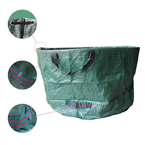SUNWIN Lawn and Leaf Bags Garden Reusable Leaf Bag Yard Lawn Gardening Waste Bag 63 Gallons by Sunwin (Image #3)'