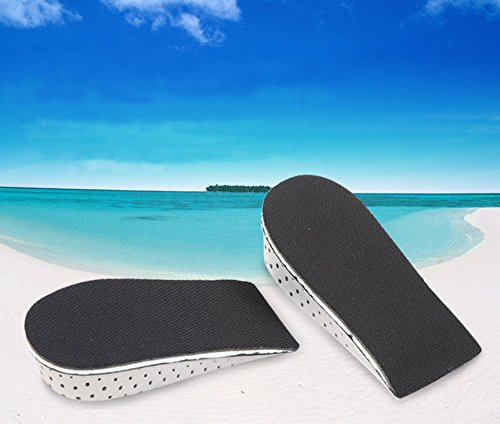 Men Women 1 Pair Memory Foam Height Increase Insole Heel Lift Insert Cushion Shoe Taller Pad (Height Increase 4 cm) by Hujukuludusu (Image #2)