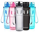 Super Sparrow Sports Water Bottle - 350ml-500ml-750ml-1L-1.5L - Non-Toxic BPA Free & Eco-Friendly Tritan Co-Polyester Plastic - Fast Water Flow, Flip Top, Opens with 1-Click