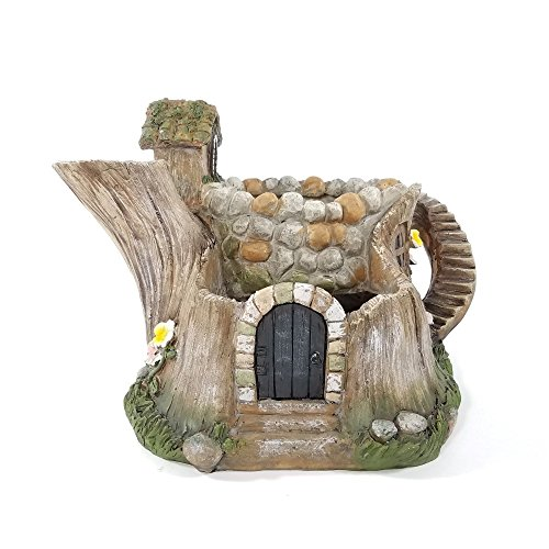 Akari Resin Tea Pot House Fairy Home Planter Décor -