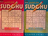 Pocket Size Large Print Sudoku PAPP Puzzles Bundle/2